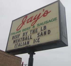 Jay's Beef Sign