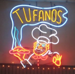 Neon Tufanos sign