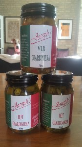 hot and mild olive oil based giardiniera from Joseph's