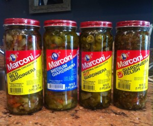 Try the four different kinds of Marconi giardinieras