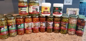 natali brand hot peppers and canned foods