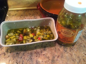 E Formella Hot Giardiniera in serving dish
